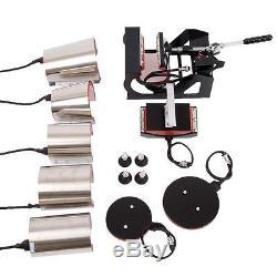 10 in 1 Heat Press Transfer Machine T-Shirt Hat Plate 6 Size Mug Multifunctional