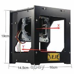 1000mW USB Laser Engraver Printer Cutter Carver DIY Logo Mark Engraving Machine