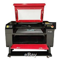 100W CO2 Laser Cutter Engraver Cutting & Engraving Machine with Router Rotary Axis