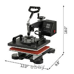 12 x 10 T-Shirt Heat Press Sublimation Transfer Machine 360 Degree Swing Away