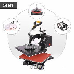 12x10 5IN1 Combo T-Shirt Heat Press Transfer Machine Sublimation Swing Away