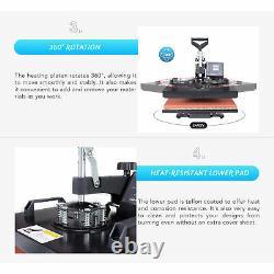12x15 5 IN 1 Combo Heat Press Machine Digital Transfer Sublimation Mug T-Shirt