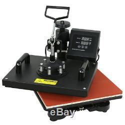 12x15 5in1 Digital Transfer Sublimation Heat Press Machine T-Shirt Mug Hat Plate