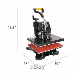 14 Vinyl Cutter Plotter Digital Transfer and 12x10 5 in 1 Heat Press Machine