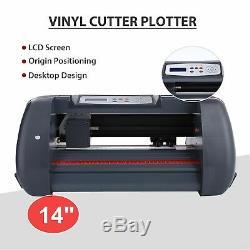 14 Vinyl Cutter Plotter Machine 350mm Paper Feed Sign Sticker Making Machine