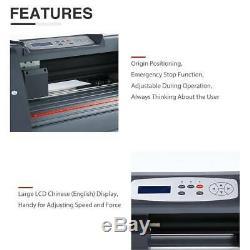 14Vinyl Cutter Plotter Paper Cutting Edges Printer LCD screen Sign Maker NEW