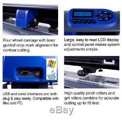 15 TABLE TITAN Craft Vinyl Cutter / Sign Cutting Plotter withVinylMaster Cut