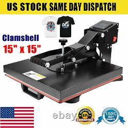 15 x 15 Heat Press Machine Clamshell T-shirt DIY Sublimation Digital Transfer