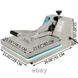 15 x 15 Heat Press Sublimation Clamshell DIY T-Shirt Transfer Digital