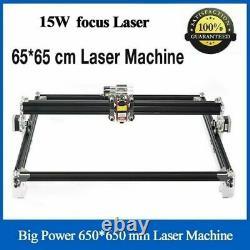 15000MW CNC Blue Laser Engraving Machine 15W Cutter 650x650mm DIY Engraver lazer