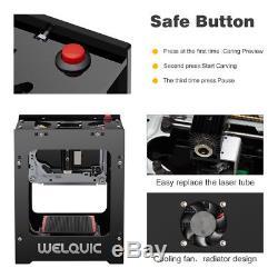 1500mW Laser Engraver Bluetooth DIY Engraving Printer Machine USB Logo Printer
