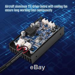 15W 450nm Blu-ray Laser Module TTL/PWM With Fan For Laser Cutter Engraver DIY DH