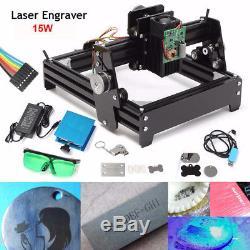 15W CNC Mini Laser Engraving Machine Metal Steel Stone Engraver Image Printer