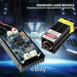 15W Laser Head Engraving Module with TTL 450nm Blu-ray Wood Marking Cutting Tool