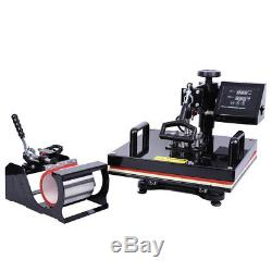 15X15 8 In 1 T-shirt Heat Press Sublimation Transfer Machine For Mug Plate Hat