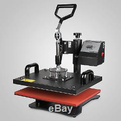 15x12 5in1 Digital Transfer Sublimation Heat Press Machine T-Shirt Mug Plate