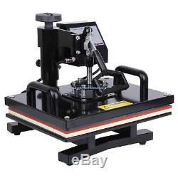 15x12 Digital Heat Press Photo T-shirt Transfer Machine 0-999s Time Control