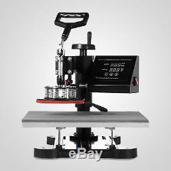 15x15 5IN1 Combo T-Shirt Heat Press Transfer Pressing Machine Cap Swing Away
