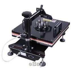 15x15 8in1 Heat Press Machine Digital Transfer Sublimation T-Shirt Mug Hat Plate