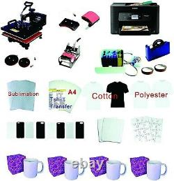 15x15 8in1 Pro Sublimation Heat Press Epson WF-3720 printer CISS material KIT
