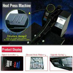 15x15 Clamshell Heat Press Machine Sublimation Transfer Printer DIY T-Shirt US
