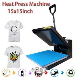 15x15 Clamshell Machine Transfer Digital Sublimation Heat Press for T-Shirt US