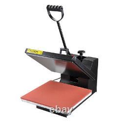 15x15 Heat Press Machine Clamshell Sublimation Transfer T-shirt Print LCD Timer