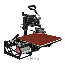 15x15 T-Shirt Heat Press Transfer 6IN1 Combo Machine Swing Away Mug Plate CE