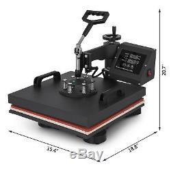 15x15 T-Shirt Heat Press Transfer 6IN1 Combo Swing Away Sublimation Printer
