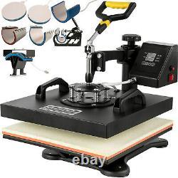 15x158in1 Heat Press Machine Digital Transfer Sublimation T-Shirt Mug Cap