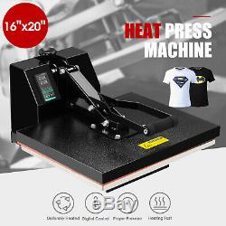 16 x 20 Digital Clamshell Heat Press Transfer T-shirt Sublimation Machine