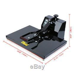 1600W Digital Clamshell Heat Press Transfer T-Shirt Sublimation Machine 16x24