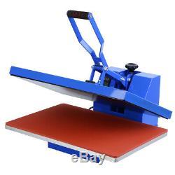 16x24 Heat Press Machine Clamshell Sublimation Transfer T-Shirt Printer 1600W