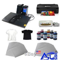 16x24 heat press machine A3 size printer paper ink ciss t-shirt Transfer Kit