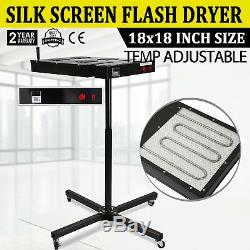 18 x 18 Flash Dryer Silk Screen Printing Equipment T-Shirt Curing Heating