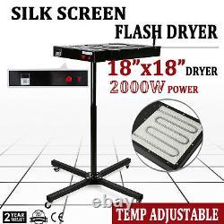 18x18 Flash Dryer Silkscreen Printing Heating Heavy Duty Adjustable Prints Kit