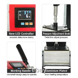 2.4 x 4.7 Rosin Mini Heat Press Machine Hand Crank Dual Heated Plates 600W LCD