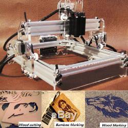 2000mW Laser Engraver Cutting Machine Desktop Mark Logo Engraving Printer US