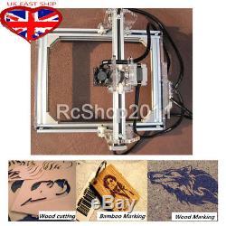 2000mw Desktop Laser Engraver Cutting Machine DIY Logo Mark Engraving Printer UK