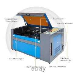 2020 Upgraded 50W 20 × 12 CO2 Laser Engraver Cutter With Rotary Axis Ruida