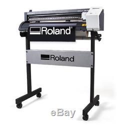 24 Roland GS-24 CAMM-1 Vinyl Cutter/Plotter Cutting Plus FREE Stand, Make Signs