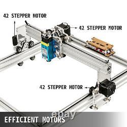 2500MW Mini CNC 3040 laser Engraver Gray Engraving Router Wood Plastic DIY US