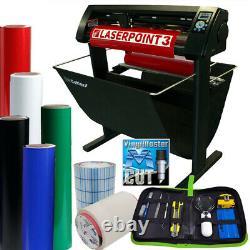28 USCutter LaserPoint 3 (LP3) Vinyl Cutter withStand, Basket, Supplies, Tools