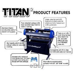 28 USCutter TITAN 2 Vinyl Cutter/Sign Cutting Plotter withVinylMaster Cut/Design