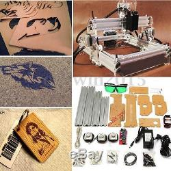 2W 2000mW Desktop Laser Engraver Cutting Machine DIY Logo Mark Engraving Printer