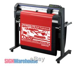 30 Graphtec FC8600-75 Vinyl Cutter Plotter & Stand Decal Machine Bundle Kit