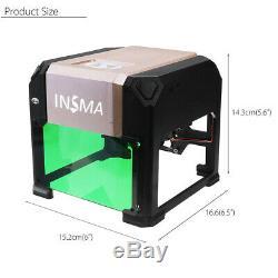 3000MW USB Laser Engraving Cutting Machine DIY Logo Printer CNC Engraver