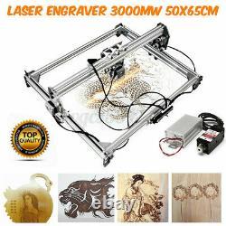 3000mW 5065cm Area Laser Engraving Cutting Machine Printer Kit Desktop Gift DIY