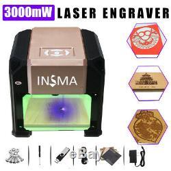 3000mW USB Laser Engraver Carver DIY Logo Mark Printer Cutter Engraving Machine