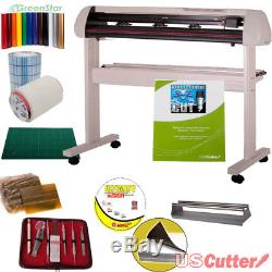 34 Vinyl Cutter BUNDLE Sign Cutting Plotter withVinylMaster Cut Design & Cut